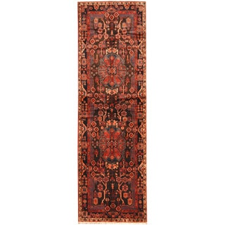 Herat Oriental Persian Hand-knotted Tribal Hamadan Wool Runner (3'11 x 12'8)