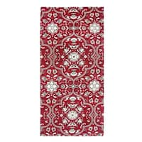 Festoon Collection Blue/Red/Olive Cotton Accent Rug (60 x 96)
