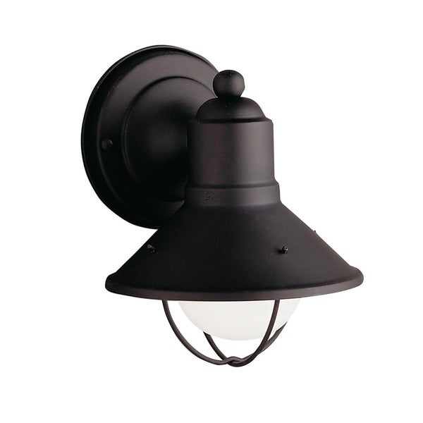 Kichler Lighting Seaside Collection 1-light Black Outdoor Wall Sconce