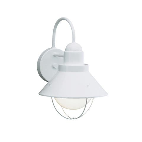 Kichler Lighting Seaside Collection White Outdoor 1-light Wall Sconce