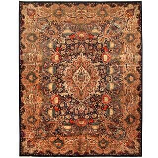 Herat Oriental Persian Hand-knotted Tribal Kashmar Wool Runner (10' x 12'8)