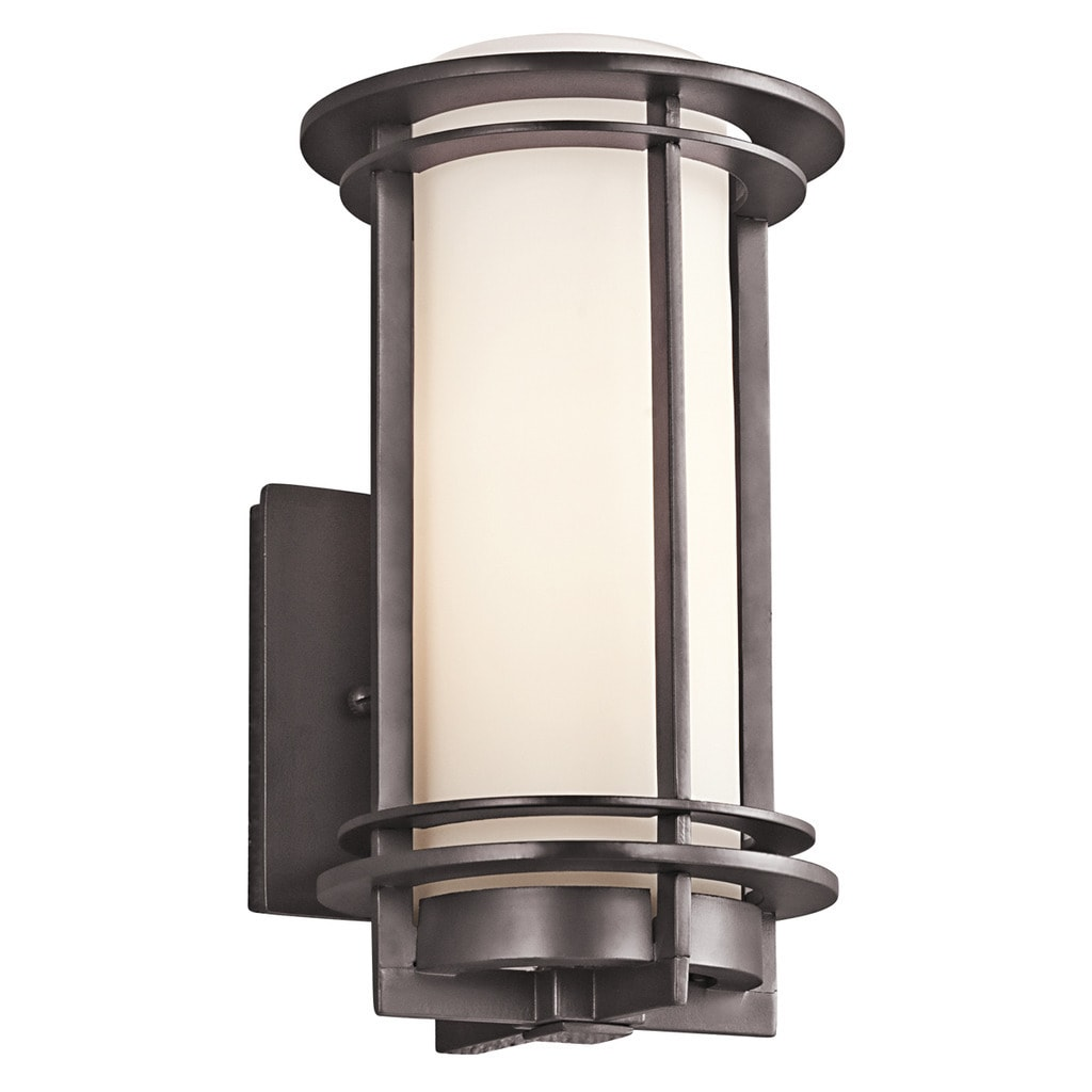 Kichler Lighting Pacific Edge Collection 1 Light Architectural Bronze Outdoor Wall Sconce