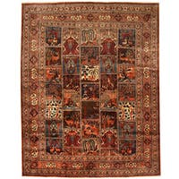 Herat Oriental Persian Hand-knotted Tribal Kashmar Wool Runner (9'10 x 12'4)