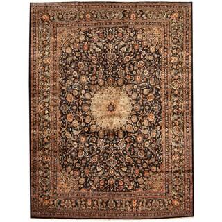 Herat Oriental Persian Hand-knotted Tribal Kashmar Wool Runner (9'9 x 13')