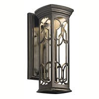 Kichler Lighting Franceasi Collection 1-light Olde Bronze LED Outdoor Wall Sconce