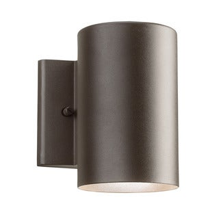 Kichler Lighting Contemporary 1-light Textured Architectural Bronze LED Outdoor Wall Sconce