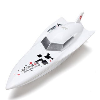 Deep V White Plastic 2.4-gigahertz Micro Speedboat