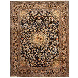 Herat Oriental Persian Hand-knotted Tribal Kashmar Wool Runner (9'10 x 12'8)