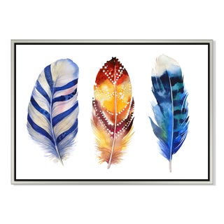 watercolor feather I