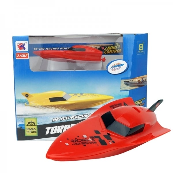 Cisco Red Plastic RC Micro 2.4 GHz Deep V Speed Boat (Red)