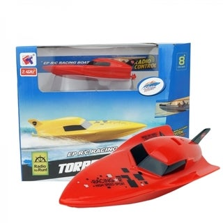 Red Plastic RC Micro 2.4 GHz Deep V Speed Boat