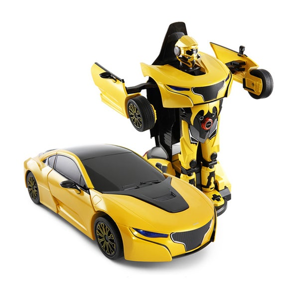 Yellow 1:14 Scale Car to Robot Transformer