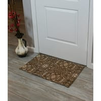 Festoon Collection Tan Cotton Accent Rug (1'8 x 2'10)