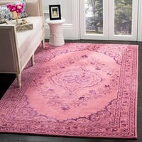Safavieh Handmade Glamour Contemporary Bohemian Pink Viscose Rug - 5' x 8'