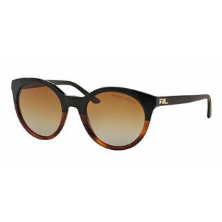 Ralph Lauren Women RL8138 5581T5 Havana Plastic Rectangle Sunglasses