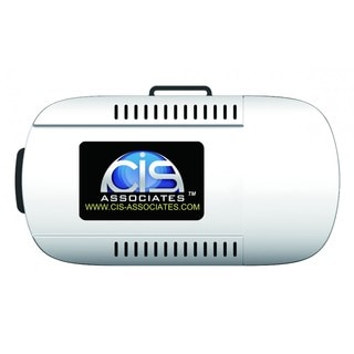 White Virtual Reality Goggles with Independent Eye Piece Focus
