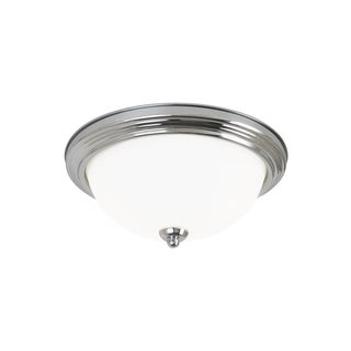 Sea Gull Ceiling Flush Mount 2 Light Brushed Nickel Ceiling Fixture