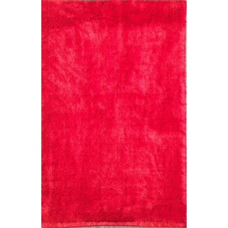 Noble House Inc Mirage Red/Brown Polyester Shag Area Rug (5' x 8')