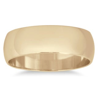 Marquee Jewels 10k Yellow Gold 6-millimeter Domed Wedding Band (More options available)