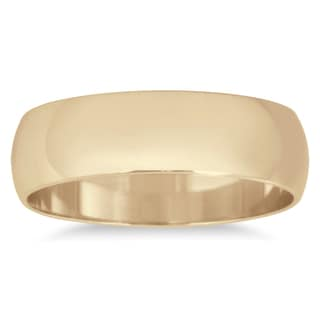 Marquee Jewels 10k Yellow Gold 5-millimeter Domed Wedding Band