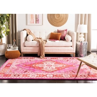 Safavieh Bellagio Handmade Bohemian Red/ Pink Wool Rug (5' x 8')