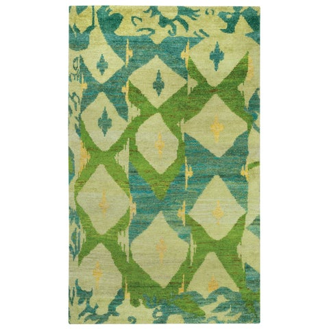 Yves Hand Knotted Rug Key Lime - 8' x 10'