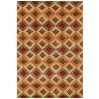 Noble House Multicolored Hand-knotted Wool Area Rug (8' x 10')