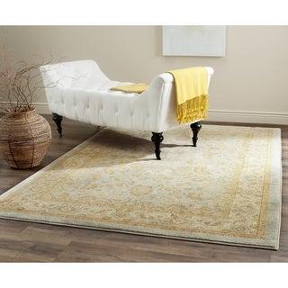 Safavieh Austin Traditional Light Blue/ Gold Rug (5' 3 x 7' 6)