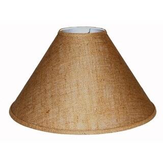 Crown Lighting Extra Large Brown Burlap Lamp Shade