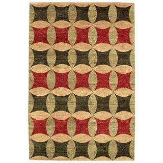 Noble House Legacy Multicolored Hand-knotted Wool Rug (8' x 10')