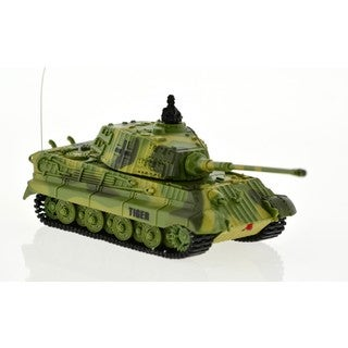 Green 1:72 Scale Tiger Tank with Sound and Rotating Turret