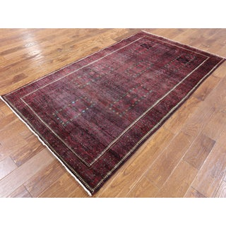 Persian Balouch Multicolored Hand-knotted Wool Rug (4'4 x 7'6)