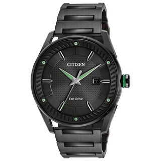 Citizen Men's Eco-Drive Black Ion-Plated Stainless Steel Watch