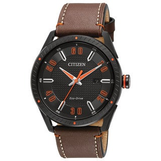 Men's Drive From Citizen BM6995-19E Eco-Drive Brown Leather Watch