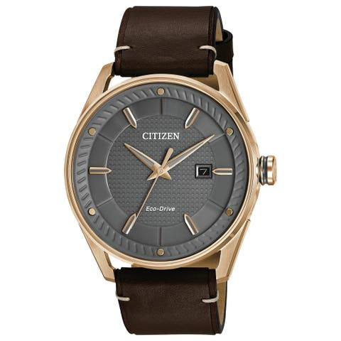 Citizen Men's Drive Brown Leather Watch