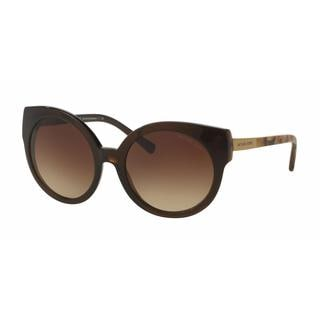 Michael Kors Women MK2019 ADELAIDE I 311613 Brown Plastic Round Sunglasses