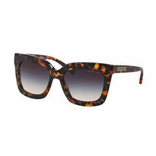Michael Kors Women MK2013 POLYNESIA 306336 Havana Plastic Square Sunglasses