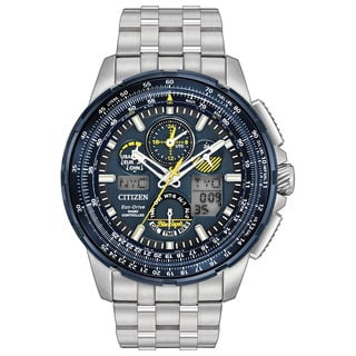 Citizen Eco-Drive Men's Blue Angels Skyhawk Atomic Timekeeping Stainless Steel Watch JY8058-50L