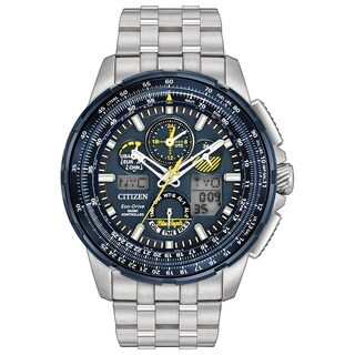 Citizen Eco-Drive Men's JY8058-50L Blue Angels Skyhawk Atomic Timekeeping Stainless Steel Watch