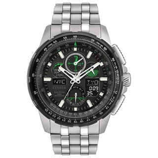 Citizen Eco-Drive Men's Skyhawk Atomic Timekeepingn Stainless Steel Watch JY8051-59E