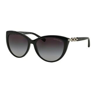 Michael Kors Women MK2009 GSTAAD 300511 Black Metal Cat Eye Sunglasses