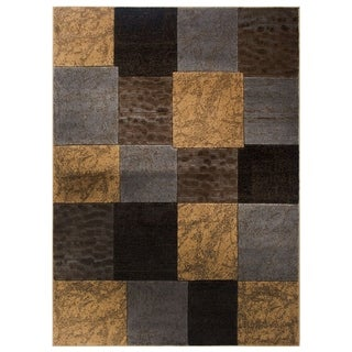 Home Dynamix Tribeca Collection Contemporary Brown/Grey Area Rug (7'10 x 10'2)