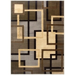Home Dynamix Tribeca Collection Contemporary Brown/Grey Area Rug - 5'2 x 7'2