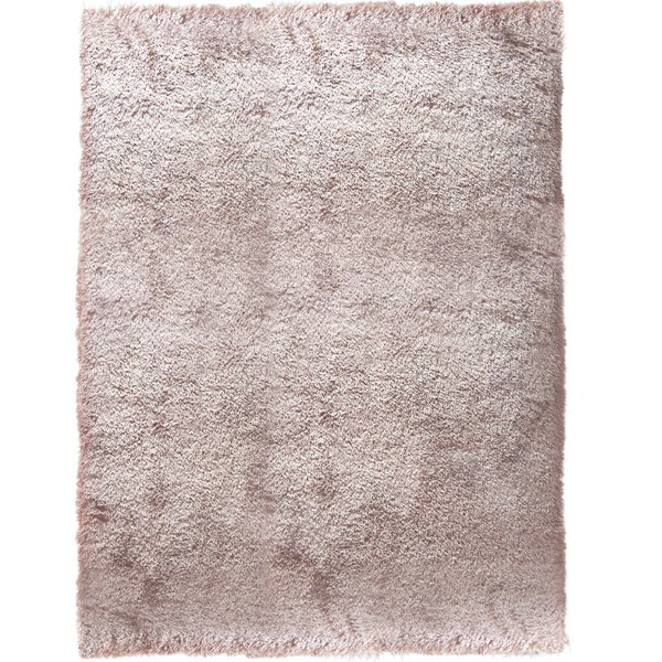 Home Dynamix Montage Collection Solid Shag Beige, Grey, White Area Rug (2'2 x 3'9) - 2'2 x 3'9