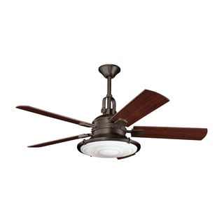 Kichler Lighting Kittery Point Collection 52-inch Olde Bronze Ceiling Fan w/Light