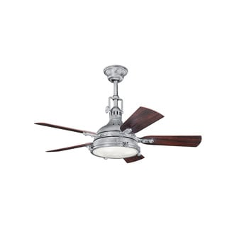 Kichler Lighting Hatteras Bay Patio Collection 44-inch Galvanized Steel Ceiling Fan w/Light