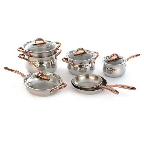 BergHOFF Ouro Silver 18/10 Stainless Steel 11-piece Cookware Set