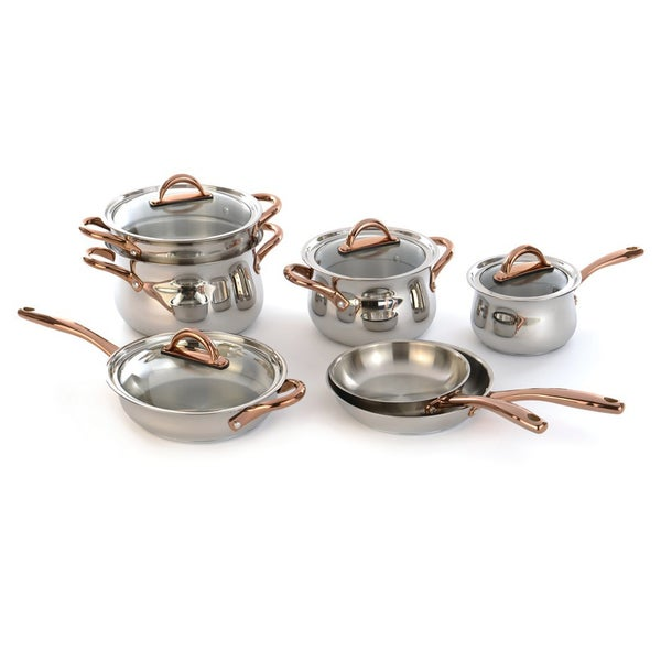 Berghoff ouro silver 18 10 stainless steel 11 piece for Zeno kitchen set