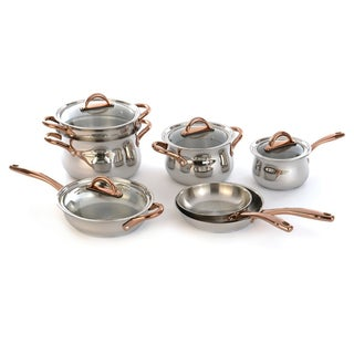 BergHOFF Ouro Silver Anodized Aluminum and Stainless Steel 11-piece Cookware Set
