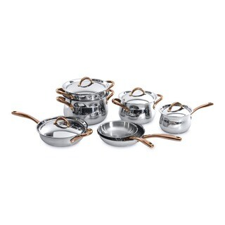 BergHOFF Ouro Rose Gold-tone 18/10 Stainless Steel 11-piece Cookware Set